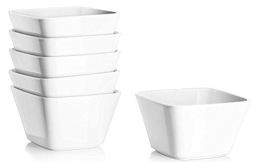 DOWAN 500ml Porzellan Müslischalen 6er-Set WeißPlatz