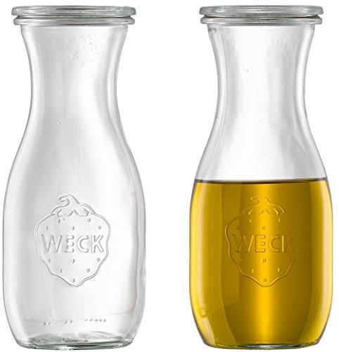 6 x Weck DressingflascheÖlflasche  EssigflascheDekoglas inkl Deckel  530 ml