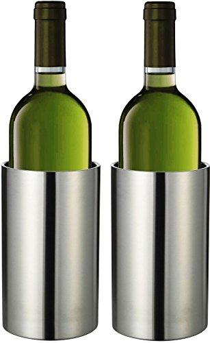 Bambelaa Weinkühler Sektkühler Flaschenkühler doppelwandig Edelstahl 2 Stück