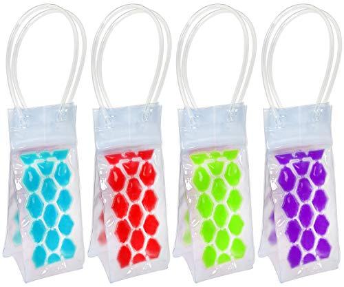 COM-FOUR 4 Flaschenkühler für verschiedene Getränkeflaschen 04 Stück - rot blaugrünlila - 245x10x10 cm