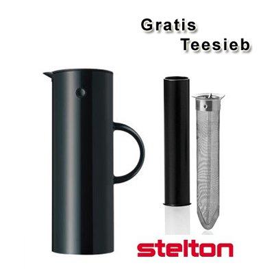 Stelton IsolierkanneThermoskanne schwarz  gratis Teesieb