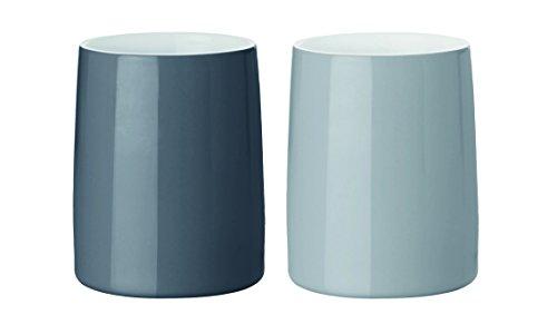 Stelton x-204-1 Emma Thermobecher 02 L 2 stück Glas grau 17 x 9 x 11 cm