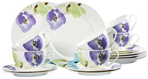 Ritzenhoff Breker Kaffeeservice Fiorano aus Fine China Porzellan 18-teilig