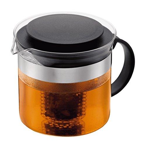 Bodum Teebereiter bistroNouveau Kunststoff Teesieb Hitzebeständiges Glas 10 liters schwarz