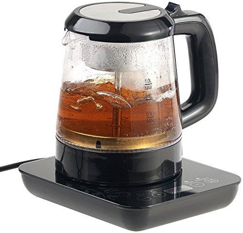 Rosenstein Söhne Teemaschine 2in1-Teebereiter Wasserkocher mit Temperaturwahl 1 Liter 800 Watt Wasserkocher Temperaturregler