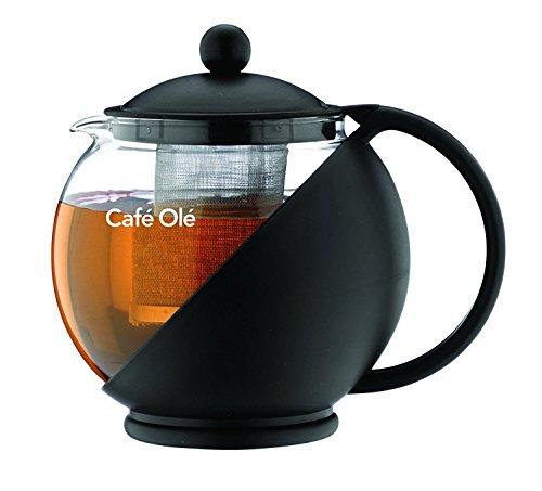 Teekanne aus Glas - Teebereiter mit Filtereinsatz 125 Liter