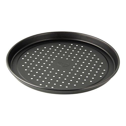 Dr Oetker Aufback-Pizzablech Ø 28 cm Backblech aus Stahl für tiefgekühlte selbstgemachte Pizza rund antihaftbeschichtet Menge 1 Stück