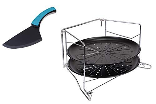 GRÄWE Pizzablech-Set mit Backofen-Gestell 4-TLG