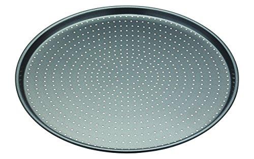 Master Class Crusty Bake Antihaft-PizzablechKnusperblech Stahl grau 32 x 32 x 14 cm