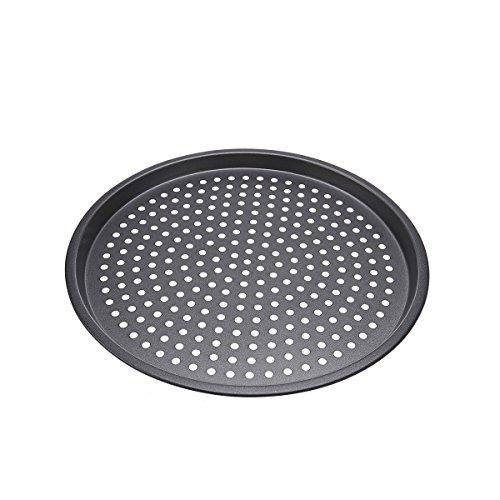 BESTOMZ 12-Zoll Antihaftbeschichtetes Pizzablech rund 32 cm