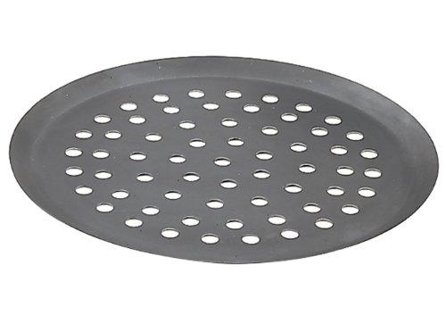 De Buyer - 535332 - Gelochtes pizzablech aus starkem blaustahl - loch 10 mm - 32cm