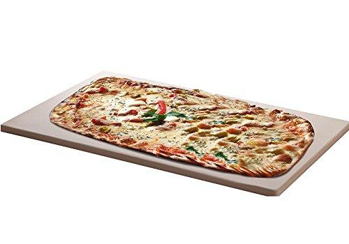 Santos Pizzastein XXL für Gas Grill Brotbackbackstein Set für Backofen eckig 45 x 35 cm x 15 cm bis 1000° Celcius
