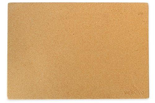 Vesuvo V45351 Pizzastein XXL für große Grills aus Cordierit bis 1000 Grad Celcius 45 x 35 x 15 cm