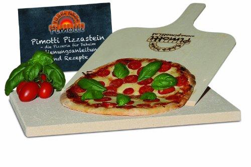 2cm Pimotti PizzasteinBrotbackstein im Set mit Schaufel und Rezepten