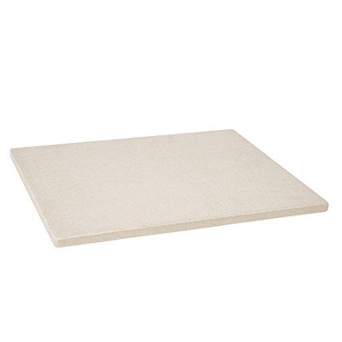 Levivo PizzasteinBrotbackstein aus hitzebeständigem Cordierit 30 x 38 x 15 cm