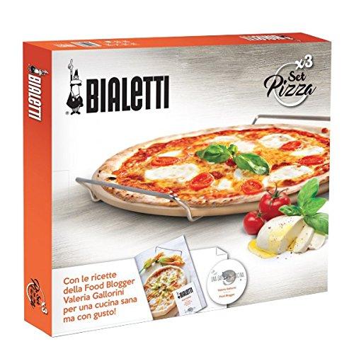 Bialetti 0PZ07327 Pizzasteinschaufel und Schneider Stahl Silber 50 x 40 x 5 cm