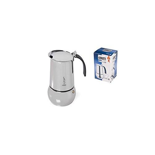 Bialetti Kitty Kaffeekocher mit Induktionboden Edelstahl Silber 10 Tassen