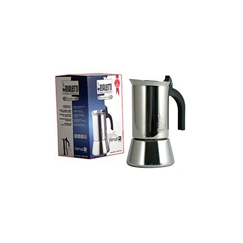 Bialetti Venus Espresso Edelstahlkocher Spülmaschinenbeständig aus Glaskeramik FeldkocherElektroherdInduktionsplatte