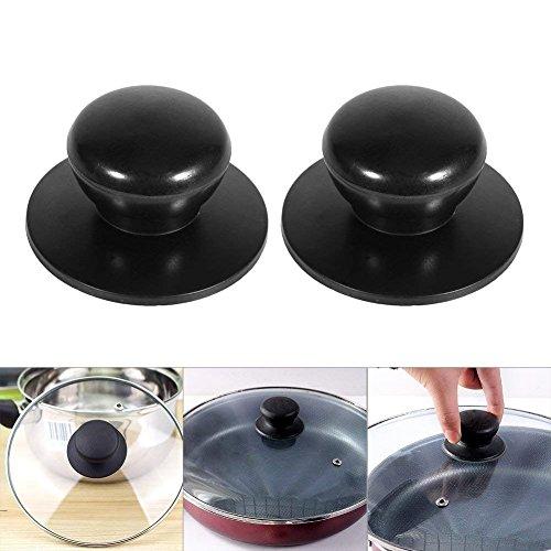 TrifyCore Ersatzgriff für Topfdeckel Kunststoff 7 Stück Schwarz eins für Kette