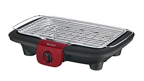Tefal BG90E5 Easygrill Adjust Elektro-Tischgrill 2300 Watt 720 cm² Grillfläche schwarzBurgunderrot