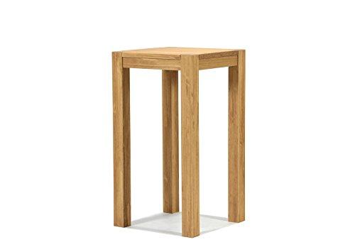 Bartisch Hochtisch Bistrotisch Stehtisch Rio Bonito 50x50cm Pinie Massivholz geölt und gewachst Tisch Farbton Honig hell Optional passende Barhocker mit Metallstreben 50x50x110cm