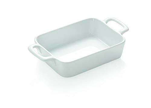 4-er Set Kleine Auflaufform Ofenform mit Seitengriffen Weiß 17 x 95 cm 4 Größen erhältlich oval und rechteckig in Gastronomie-Qualität