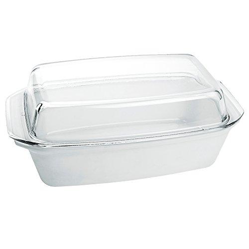 Bohemia Cristal 093 012 315 Play of Colors Cooking Schüssel eckig ca 28 l weiß mit Deckel aus hitzebeständigem Borosilikatglas Auflaufform Glas