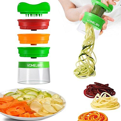 Spiralschneider Hand für Gemüsespaghetti Gemüseschneider Gemüsehobel 3-Klingen Spiralschneider