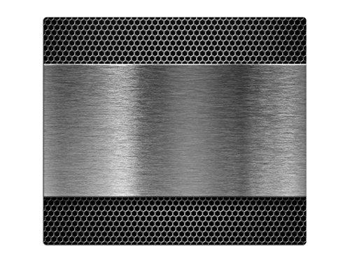 Herdabdeckplatten Schneidebrett aus Glas Edelstahl Optik HA116227504 Variante 1x Scheibe 1 Panels