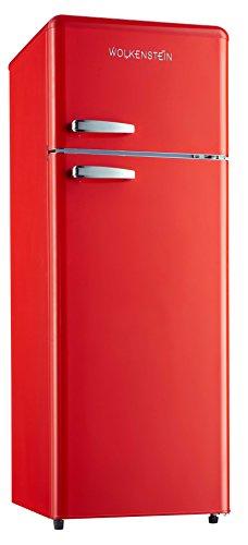 Retro Kühl-Gefrier-Kombination Rot Glanz GK2124RT A 206 Liter Nostalgie Design Kühlschrank