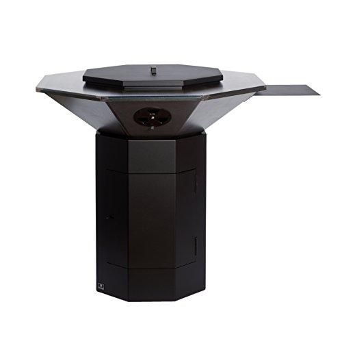 Bio-Blaze Outdoor Stahl Grill achteckigen Modell als Feuerschale Backplatte Plancha zu verwenden mit Grill Wok und Pfannen