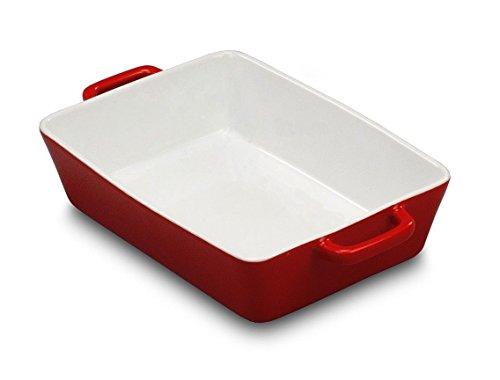 Inox Trade 23 x 16 cm Keramik Auflaufform Backplatte Porzellan Lasagne Gratin