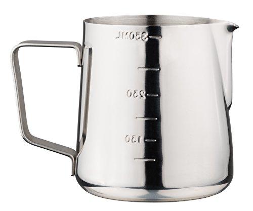 Luxpresso MilchkännchenMesskanneMessbecher mit Skala aus Edelstahl 350 ml