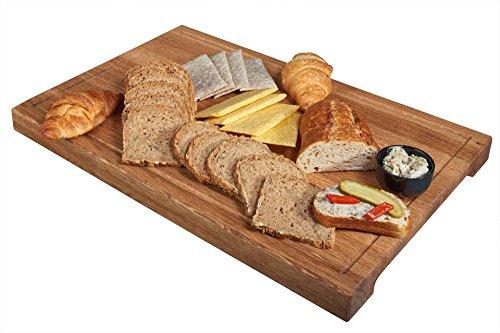 Schneidebrett Eiche XXL natur 60 x 40 x 4 cm Grillbrett Küchenbrett Hackbrett Holzbrett groß cutting board