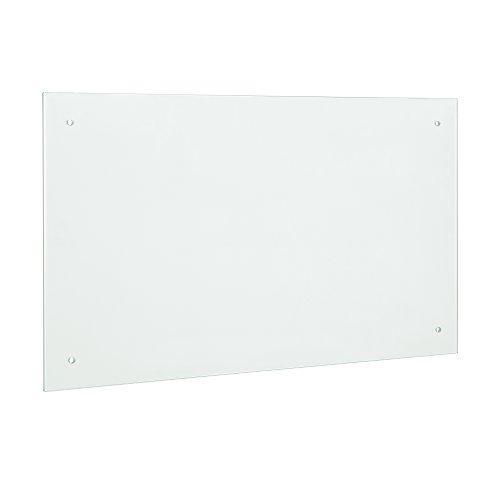 neuhaus Glas Küchenrückwand  Spritzschutz 90x50cm - Mattglas - Fliesenspiegel inkl Befestigungsmaterial