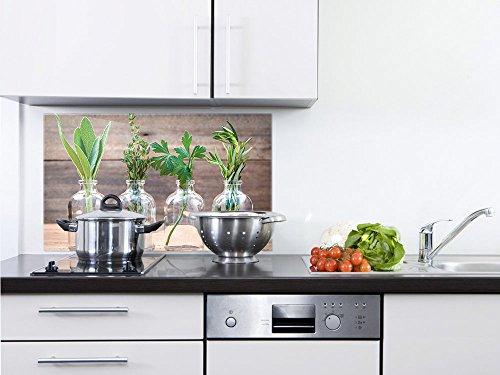GRAZDesign 200054_80x40_SP Küchenrückwand Glas-Bild Spritzschutz Herd Edler Kunstdruck hinter Glas  Bild-Motiv Gewürze  Eyecatcher für Zuhause 80x40cm