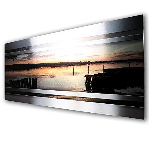 Sonnenuntergang Sunset Designer Fliesenspiegel Spritzschutz Küchenrückwand Küche Kochen Herd aus Alu Verbund  verschiedene Größen 80x40cm