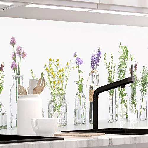 StickerProfis Küchenrückwand selbstklebend Pro KRÄUTERGLÄSER 60 x 220cm DIY - Do It Yourself PVC Spritzschutz