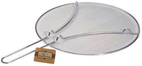 Culina 33cm Pfannen Spritzschutz Feines Edelstahl Netzgewebe mit Fußstütze