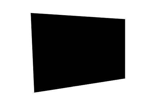 PAULUS Spritzschutz Küche Herd Küchenrückwand Acrylglas 60x40 cm Farbe schwarz