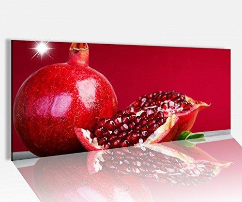 Acrylglasbild 100x40cm Granatapfel Obst Kerne Küche Früchte Acrylbild Glasbild Acrylglas Acrylglasbilder 14A1346 Acrylglas Größe1100cmx40cm