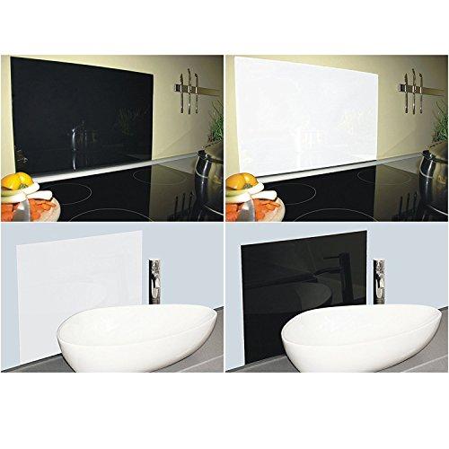 PAULUS Spritzschutz Acrylglas für Küche Wand Waschbecken Bad in verschiedenen Farben 60x40 cm weiss
