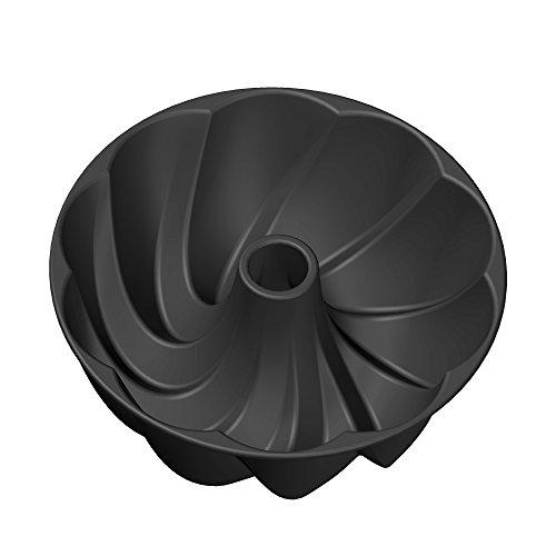Kaiser Inspiration Design-Gugelhupfform Ø 25 cm mit geschwungener Oberflächenstruktur Aluminiumguss antihaftbeschichtet gleichmäßige Bräunung