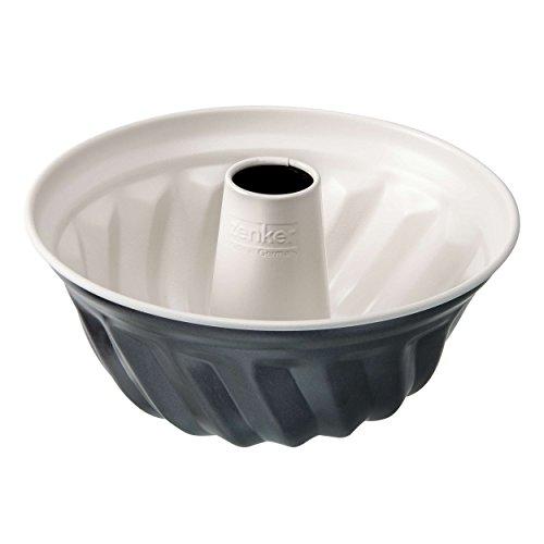 Zenker 7815 Gugelhupfform Crème Noir Durchmesser 22 cm Edelstahl grau  beige 22 x 22 x 115 cm