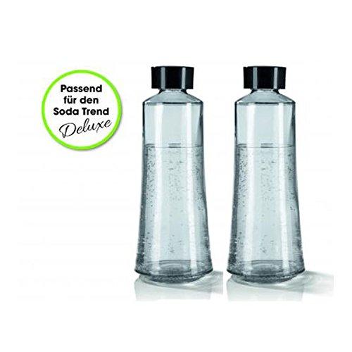 Soda Trend 07782 Glasflaschenersatz 2er-Set 720ml  Für Soda Trend Wassersprudler Deluxe  Zusatzflaschen