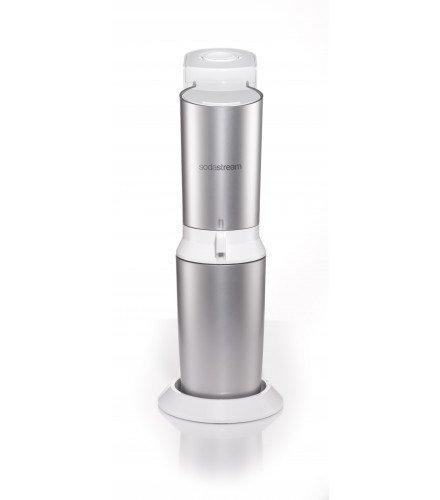 SodaStream Crystal 20 Wassersprudler weiß mit 1 x Co² Zylinder 425g und 2 x Glaskaraffen 06 l