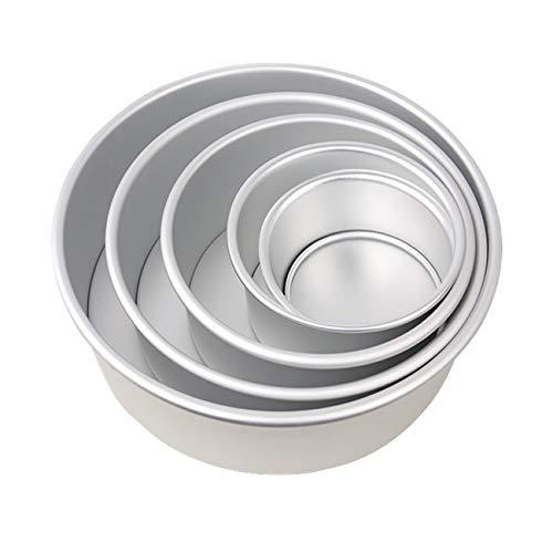 Gesentur Kuchenform Runden Backformen für Torte Antihaftbeschichtung Backform mit Boden abnehmbar 5 Stück5 6 7 8 9