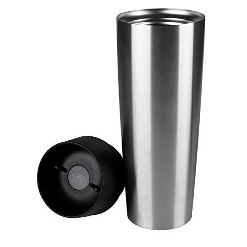 Emsa 515614 Isolierbecher Mobil genießen 500 ml Quick Press Verschluss Travel Mug Grande edelstahl