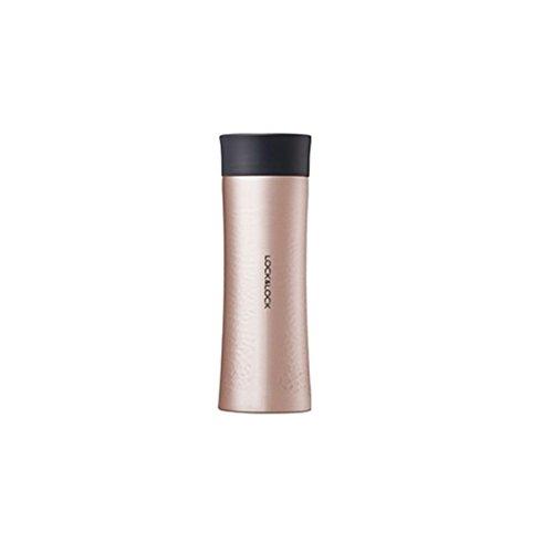 LOCK LOCK Thermobecher to go - DIAMOND TUMBLER - Isolierflasche Edelstahl auslaufsicher - Thermo Isolierbecher für Kaffee Tee Kaltes - 300ml Gold-Pink