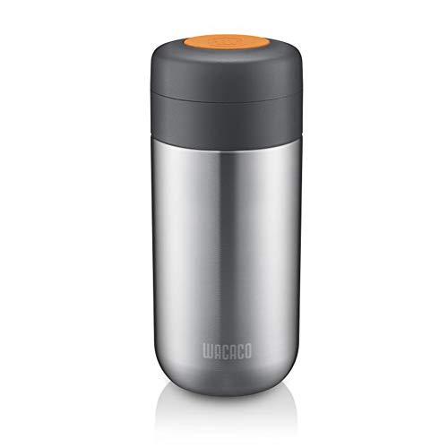 Wacaco Nanovessel 3-in-1-Vakuum-Isolierflasche Kompatibel mit Nanopresso -304 Edelstahl- Tumbler Tee-Infuser und Wassertank Reise-Kaffee-Flasche Camping-Espresso-Zubehör 7 Unzen Kapazität